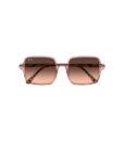 RayBan 1973 Transparent Pink Brown Havana akiniai saules